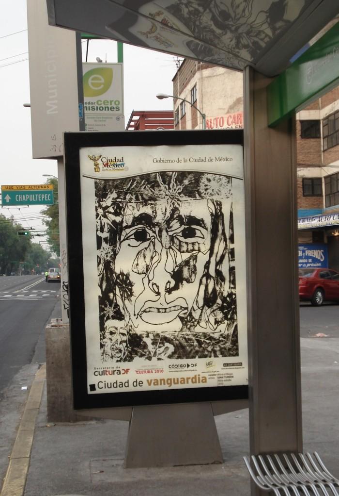niña estrella en parabús de la Cd. de México / Caligrafías Urbanas